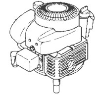 Motor mit senkrechter Kurbelwelle (Rasenmäher)