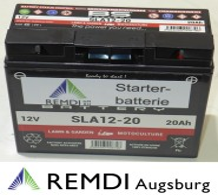 Starterbatterie (Blei-Gel) für AS-Motor Aufsitzmäher 12V 20AH  Nr. E08542 AS 800