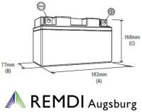 Starterbatterie 18120002/1 (AGM) für CASTELGARDEN Rasentraktor 12V 20AH