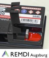 Starterbatterie 663 512 073 (AGM) für Dolmar Rasentraktor 12V 20AH