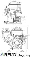Schneefräsen Motor Briggs & Stratton ca. 8,5 PS(HP) INTEK 19,05/62 E-Start 2 Wellen