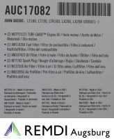 JOHN DEERE Wartungskit für Kundendienst AUC17082 (LG195) LTR180, LT180, LX288, LT190