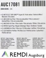 JOHN DEERE Wartungskit für Kundendienst AUC17081 (LG230) L111, L118, L120, 145, 135