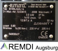 Drehstrom-Asynchronmotor 400V 3 kw 1410 U/min mit elektrischer Bremse