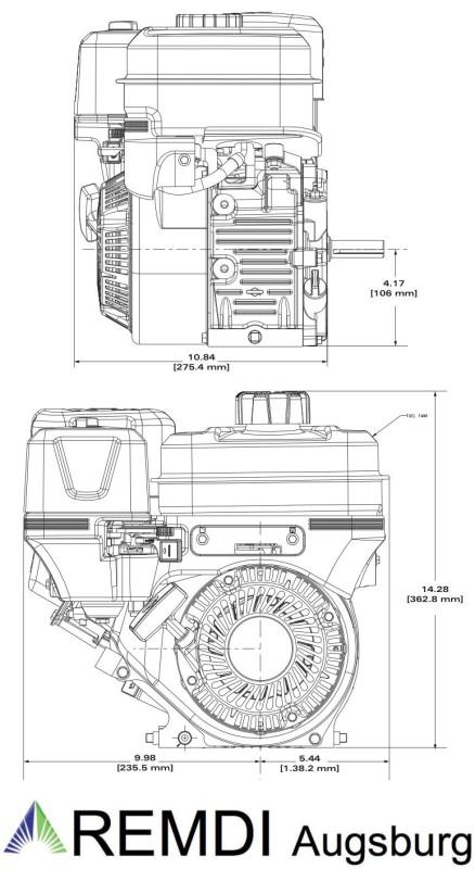 Briggs & Stratton Motor ca. 6,5 HP Vanguard Welle 25,4/80 mm, 396,90 €