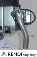 Auspuffbogen m Flansch für Briggs & Stratton Einzylinder Traktormotoren RT501009