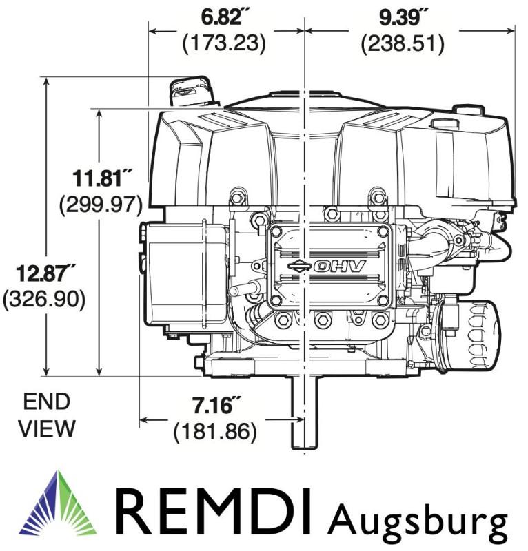 Briggs & Stratton Rasentraktor Motor INTEK 5210 (21 HP) E-Start, 704 ...