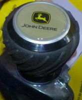 Original JOHN DEERE Luxus-Lenkradknauf Lenkhilfe MCXFA1567 mit schwarz-gelbem Logo