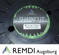 Sharkcut Profi Alu Trimmerfaden, Nylonfaden, Mähfaden rund 2,4 mm 1.721 Meter