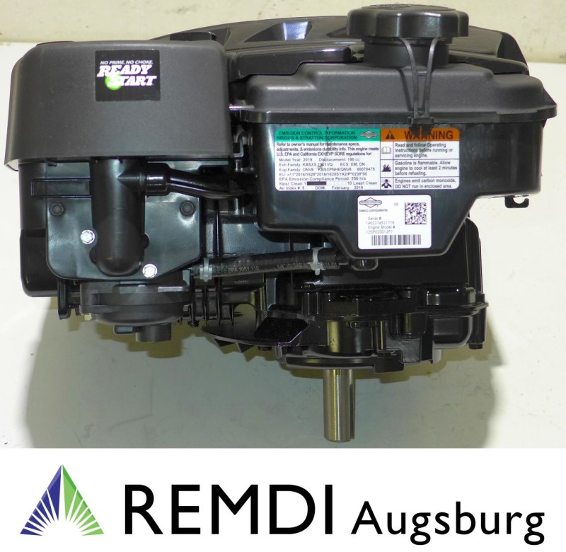 Rasenmäher Motor Briggs & Stratton ca. 6,5 HP 875EXi Serie Welle 25/80