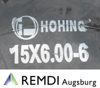 Schlauch 15x6.00-6 mit geradem Ventil