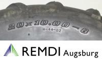 Reifen 20x10.00-8 AS Profil mit Stollen