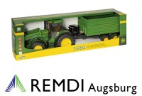 JOHN DEERE Sammlermodell Miniaturmodell Traktor 7930 mit Frontlader und Tandemachs-Transportanhänger Maßstabs-Modell 1:16