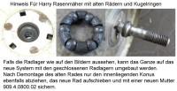 Rad für Harry Rasenmäher mit Zahnkranz Durchmesser 175 mm 411.19.900.0B